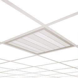 GENERAL Highly efficient recessed luminaire for direct illumination.  Full visual comfort is ensured with the latest optical and electrical components.  OPTICS A combination of double parabolic, mat aluminium 'dark light' louver and transparent tempered gl...