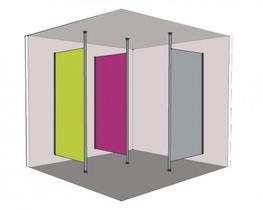 Ultra Fast Washroom Modesty Screens (SGL) (SGLMODSCR) image