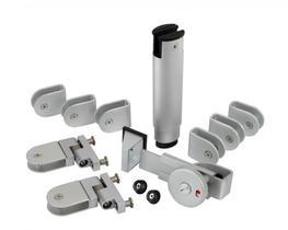 Aluminium Cubicle Hardware Pack (AH20A) image