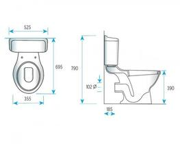 Blanc Close Coupled Toilet (S7006004) - Commercial Washrooms Ltd