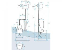 Blanc Ceramic Urinal Bowl (Exposed Cistern) (S7004027) - Commercial Washrooms Ltd