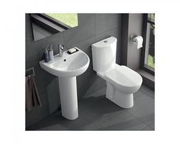 E100 Round Close Coupled Standard Toilet (E11148WH) - Commercial Washrooms Ltd