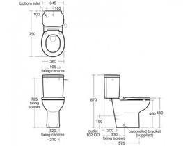 Contour 21 CC Raised Height WC Pan (S3054) - Commercial Washrooms Ltd