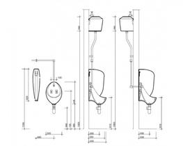 Clifton Urinal (Exposed Cistern) (VC7002) - Commercial Washrooms Ltd