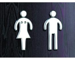 Cast Aluminium Male and Female Toilet Door Signs (PWD-MF) image