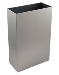 Slim Waste Bin with Open Top (30L) Brushed Stainless Steel (PL71MBS) image