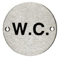 W.C. Sign - Stainless Steel (X2006) image