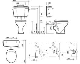 Classic Low Level Toilet (CC1138) - Commercial Washrooms Ltd
