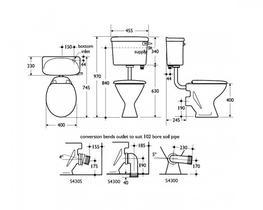Sandringham 21 Magnia Low Level Toilet (S3510) - Commercial Washrooms Ltd