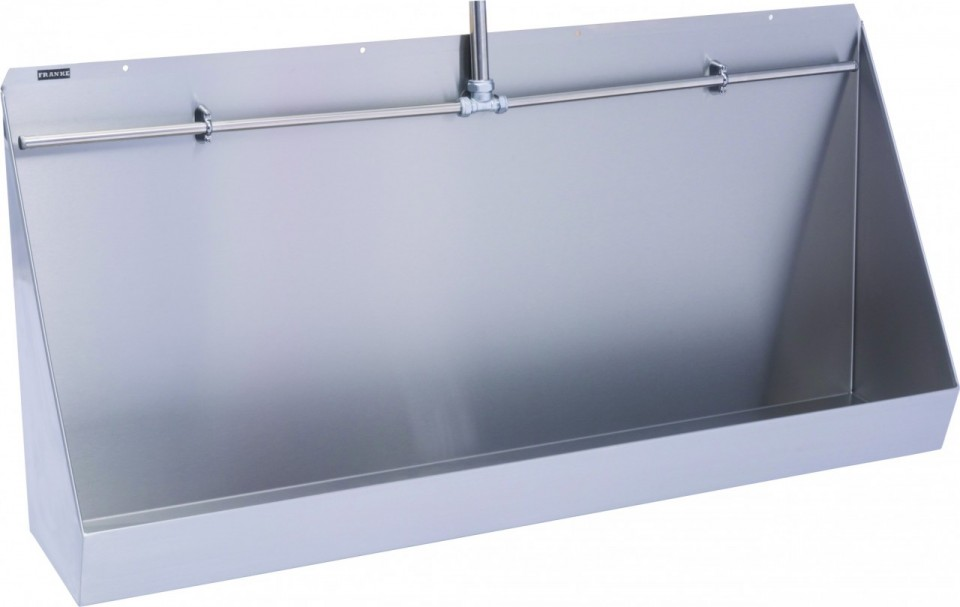 Centinel Wall Hung Stainless Steel Urinal Trough Exposed