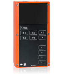 EX 7P04 - Digital 2-wire station for Ex zones, without loudspeaker, with Party Line keys and 4 function keys image