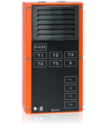 EX 7P04 S - Digital 2-wire station for Ex zones, with loudspeaker, Party Line keypad and 4 function keys image