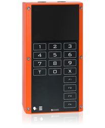 EX 7504 - Digital 2-wire station for Ex zones, without loudspeaker, standard keypad and 4 function keys image