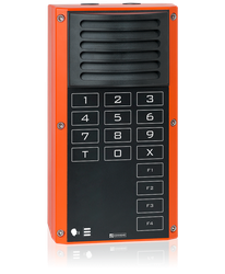 EX 7504 S - Digital 2-wire station for Ex zones, with loudspeaker, standard keypad and 4 function keys image