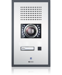 WS 201P I CA - Wallmount station with one call button and  integrated AXIS colour video camera image