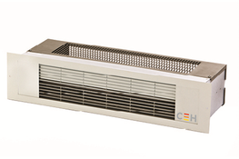 The recessed over door heater is designed for use above frequently opened doors to limit the loss of heated air and the ingress of cold air. Typical installations include shops, entrance halls, and workshop/warehouse doors.  The purpose designed mounting arran...