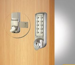 The CL2200 is a medium duty electronic lock. The bolt slides on the inside surface of the door to lock or unlock. The bolt is moved manually by means of the outside knob after the code is entered, and freely by the inside knob at all times.   When a valid code...