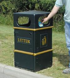 Closed Top Litter Bin image