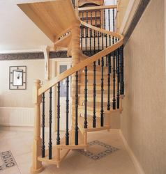 SOLID TIMBER WITH CAST BALUSTERS image