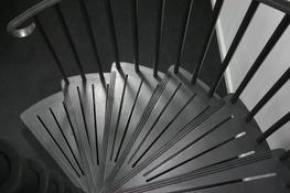 o address a gap in the market for modern but attractive spiral staircases, British Spirals & Castings designed these splendid stairs which have added a popular alternative to our more traditional range of Cast Aluminium staircases. They really are one of a kin...