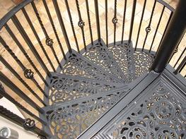 VICTORIAN SPIRALS WITH WROUGHT IRON BALUSTERS image