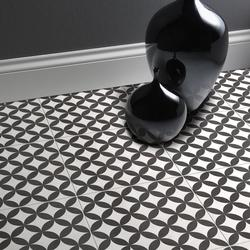 Black & Ivory Matt Wall & Floor image