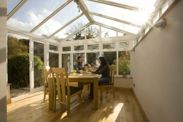 The Gable conservatory is one of the most versatile designs in the range. Its uniform and simple design, which is a variation of the Edwardian, not only allows the maximum amount of living space within the conservatory, but also allows it to be neatly coupled ...