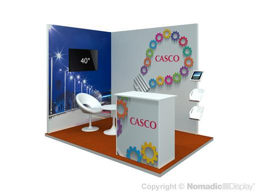 Fabric Exhibition Stand Year : M envision fabric graphic display stand by nomadic display
