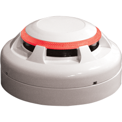 Using a simple but effective technique, the EV-P Optical Detector incorporates a chamber housing an Infra Red (IR) LED light and a photodiode light detector set at an obtuse angle preventing it from seeing the light. When smoke enters the chamber the light bou...