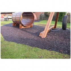 Manufactured from 100% premium recycled tyres free from fibres and wires, rubber mulch when laid with DekorGrip rubber binder will create a unique, low maintenance surface – a superb alternative to organic mulches.Being made of rubber, the bark will not ab...