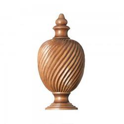 F264   Wood Twisted Urn Finial image