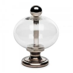 Gf69   Clear Glass Pumpkin & Metal Finial image