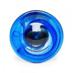 Gt22   Blue Swirl Glass Curtain Tieback image