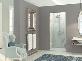 EauZone Plus Hinged Door from Wall for Recess image
