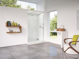 Radiance Straight Sliding Door with Slimline Shower Tray image