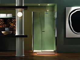 Radiance Pivot Inline Door with Side Panel image