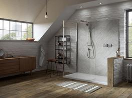 Boutique Walk-In for Corner with Integrated Tray image