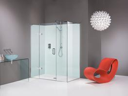 EauZone Plus Hinged Door with Hinged Panel and Inline Panel for Corner image