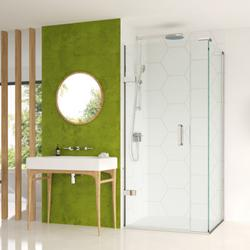 EauZone Plus Hinged Door from wall and Inline Panel for Corner image