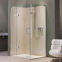 EauZone Plus Hinged Door with Hinge Panel for Corner - Matki Showering