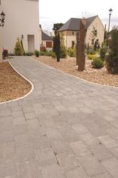 Country Cobble® Paving in Slate, with tumbled edges to add character to its dark, even colouring, is always popular, whether used alone or to add framing, defined edges or bespoke pattern to front paths and driveways. ...