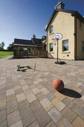 River Stone Paving's crisp edges complement Glenarm's colourway of gentle browns, buffs and creams to fit comfortably into contemporary designs while also offering character and subtle warmth that suit more traditional settings. ...