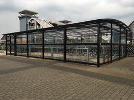 Two Tier Enclosed Cycle Compound Two Tier Cycle Parking image
