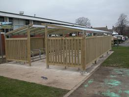 Wooden Cycle Shelters Bespoke Cycle Shelters image