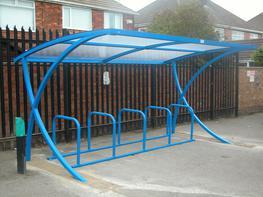 X Frame Cycle Shelter Bespoke Cycle Shelters image