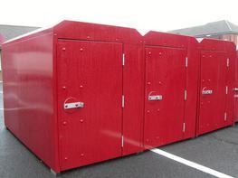 Double Cycle Locker Cycle Lockers - Lockit Safe Ltd