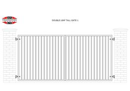 DOUBLE LEAF TALL GATES image