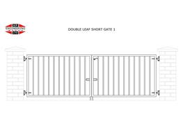 DOUBLE LEAF SHORT GATES image