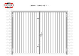 DOUBLE LEAF FRAMED GATES image