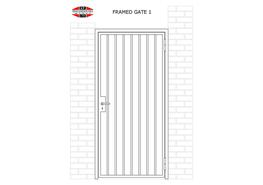 SINGLE LEAF FRAMED GATES image